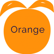 orange with text
